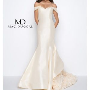 Vanilla Mac Duggal Gown